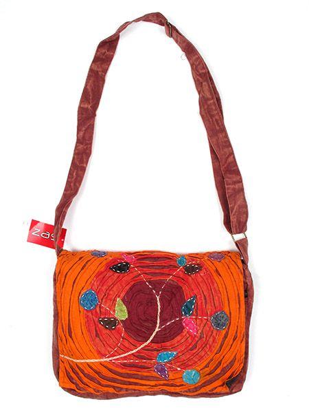 bolso hippie circulos y flores. bolso tipo messenger bag 100% algodón Comprar - Venta Mayorista y detalle