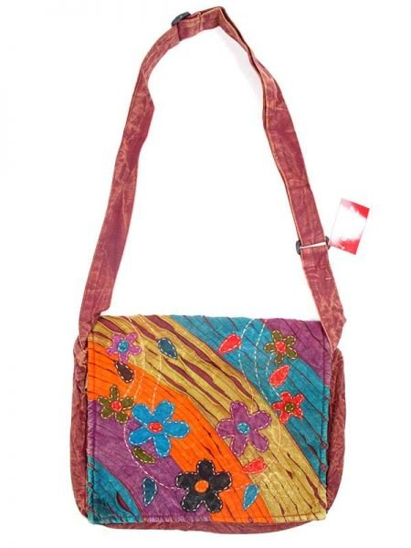 bolso hippie multicolor flores.bolso tipo messenger bag 100% algodón Comprar - Venta Mayorista y detalle