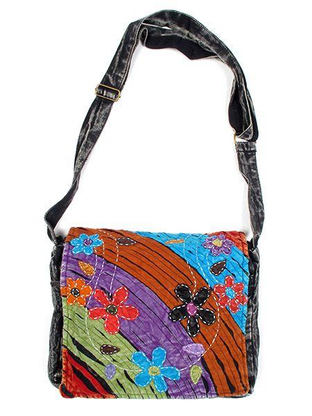 Bolso hippie multicolor flores. Comprar - Venta Mayorista y detalle