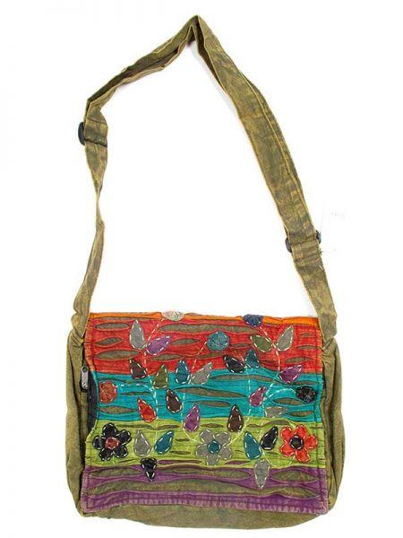 bolso hippie flores cutting.bolso tipo messenger bag 100% algodón Comprar - Venta Mayorista y detalle