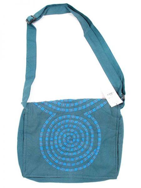 Bolso tipo messenger bag 100% algodón realizado con parches Comprar - Venta Mayorista y detalle