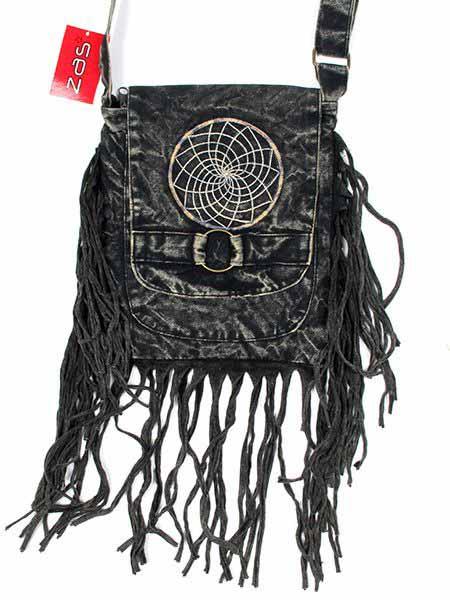 Bolsito hippie cuadrado flecos BOMT11 para comprar al por mayor o detalle  en la categoría de Complementos Hippies Alternativos.