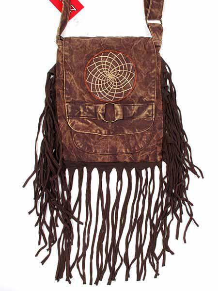 Bolsito hippie cuadrado flecos BOMT11 para comprar al por mayor o detalle  en la categoría de Complementos Hippies Étnicos Alternativos.