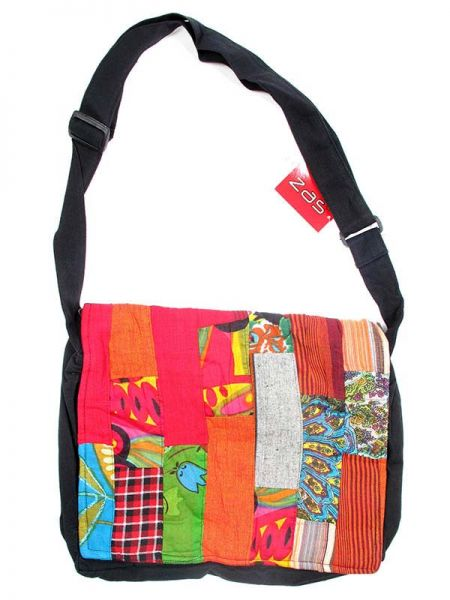 Bolso hippie patchwork de colores, dispone de varios bolsillos y compartimentos Comprar - Venta Mayorista y detalle