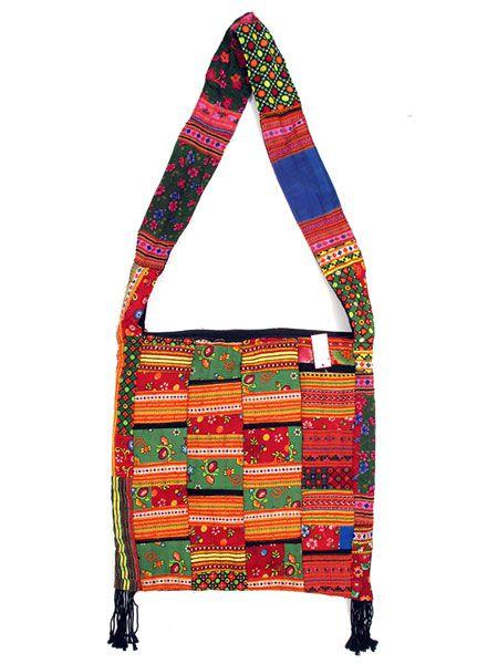 Bolso cuadrado patchwork tribal - Detalle Comprar al mayor o detalle