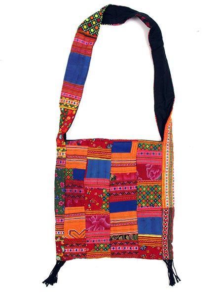 Bolsos y Mochilas Hippies - Bolso cuadrado patchwork tribal [BOPH09] para comprar al por mayor o detalle  en la categoría de Complementos Hippies Alternativos.