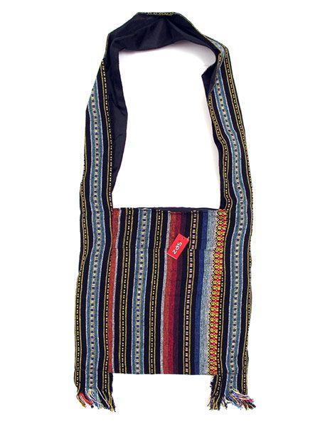 Bolso de punto de algodón realizado con telas hippies étnicas, Comprar - Venta Mayorista y detalle