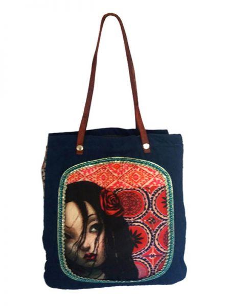 Colección Catkini - Frida Kahlo - Bolso Frida Kahlo Asa Catkini [BOWB01] para comprar al por mayor o detalle  en la categoría de Complementos Hippies Étnicos Alternativos.