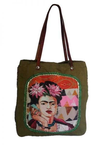 - Bolso Frida Kahlo Asa Catkini [BOWB01] para comprar al por mayor o detalle  en la categoría de Ropa Hippie Alternativa para Chicas.