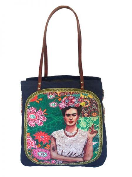 Colección Catkini - Frida Kahlo - Bolso Frida Kahlo Asa Catkini BOWB01 para comprar al por Mayor o Detalle en la categoría de Complementos Hippies Étnicos Alternativos