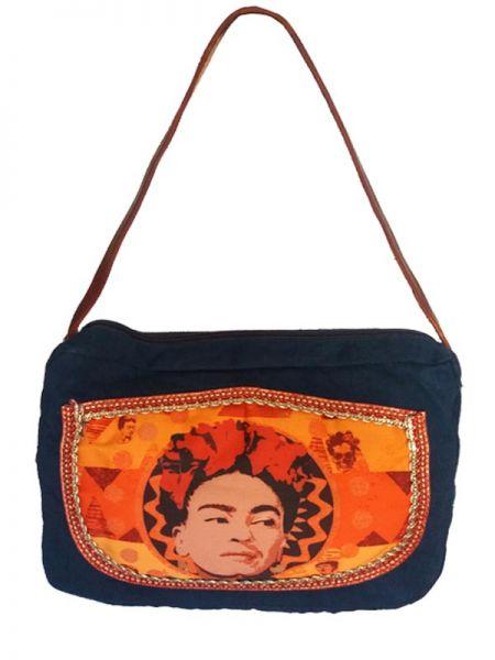 Bolso tipo Cartera Fhida Kahlo, de Algodon Parche estampado en su Comprar - Venta Mayorista y detalle