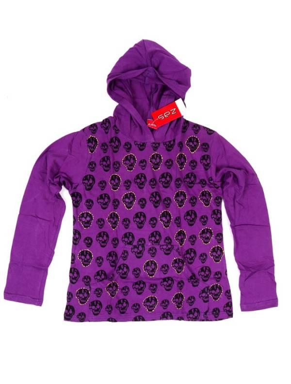 Camiseta con Calaveras y Capucha - Morado Comprar al mayor o detalle