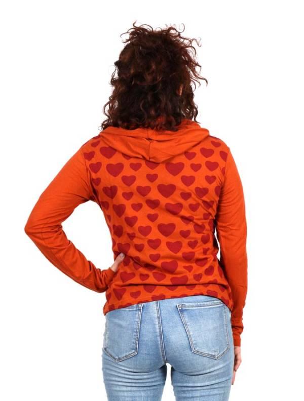 Camiseta con corazones y capucha - Detalle Comprar al mayor o detalle