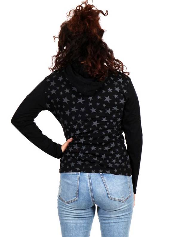Camiseta con estrellas y capucha - Detalle Comprar al mayor o detalle