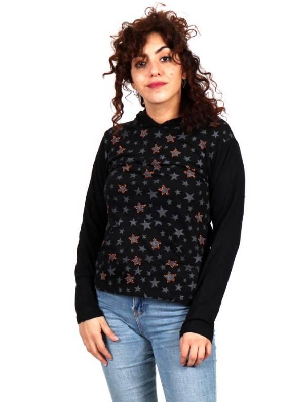 Camiseta con estrellas y capucha [CACEV06] para comprar al por Mayor o Detalle en la categoría de Camisetas de Manga Larga