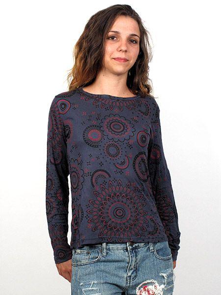 Outlet Ropa Hippie - Camiseta M Larga mandalas [CAEV02] para comprar al por mayor o detalle  en la categoría de Outlet Hippie Étnico Alternativo.