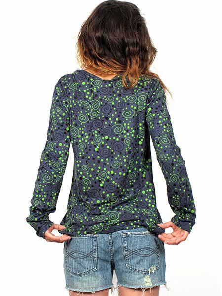 Camiseta M Larga espirales - Detalle Comprar al mayor o detalle