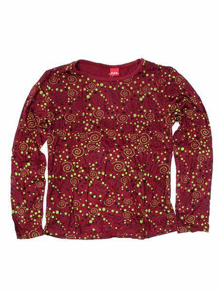Camiseta M Larga espirales CAEV04 para comprar al por mayor o detalle  en la categoría de Outlet Hippie Étnico Alternativo.