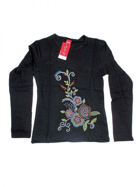Camisetas de Manga Larga - Camiseta de algodón CAEV05 - Modelo Negro