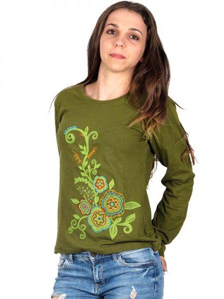 Camiseta M Larga bordada - Detalle Comprar al mayor o detalle