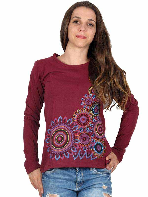 Camiseta M Larga bordados mandalas - Comprar al Mayor o Detalle
