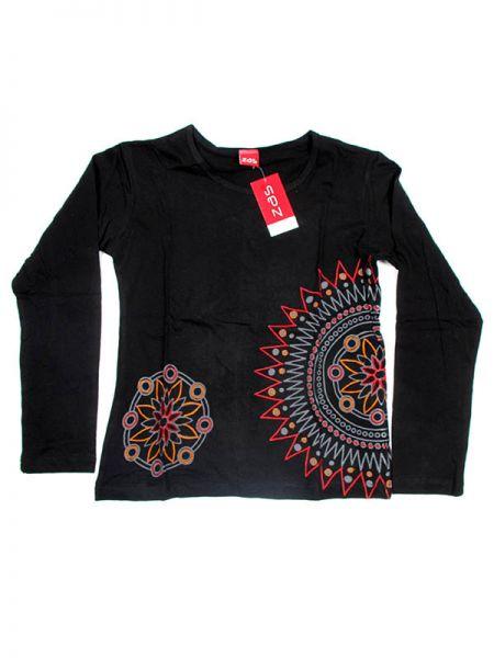 Camiseta de algodón de manga larga bordados de mandala de colores Comprar - Venta Mayorista y detalle