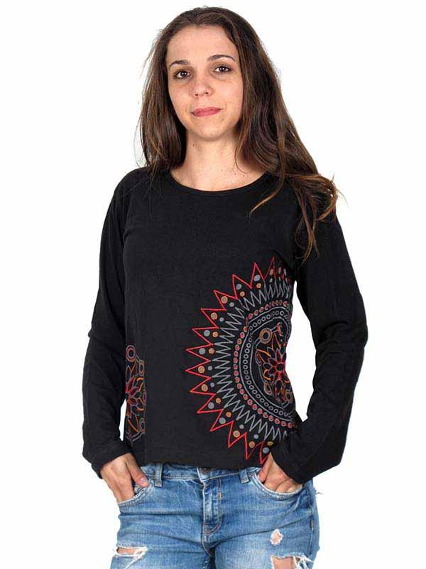Camiseta M Larga bordados mandala [CAEV07] para Comprar al mayor o detalle