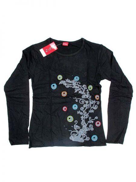 Camiseta de algodón de manga larga bordados Tree de colores Comprar - Venta Mayorista y detalle