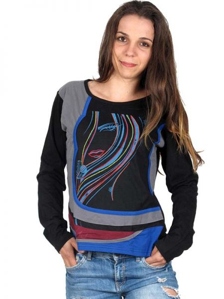 Camiseta M Larga patch bordado - Detalle Comprar al mayor o detalle
