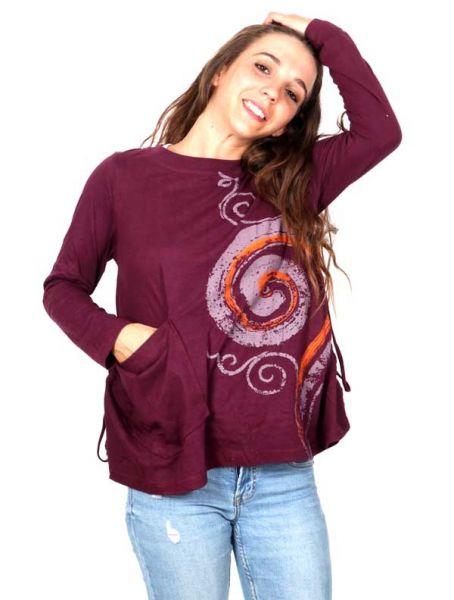 Camiseta con Espiral Estampada - Detalle Comprar al mayor o detalle