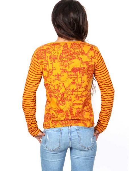 Camiseta con Bordados y estampado Tibet - Detalle Comprar al mayor o detalle