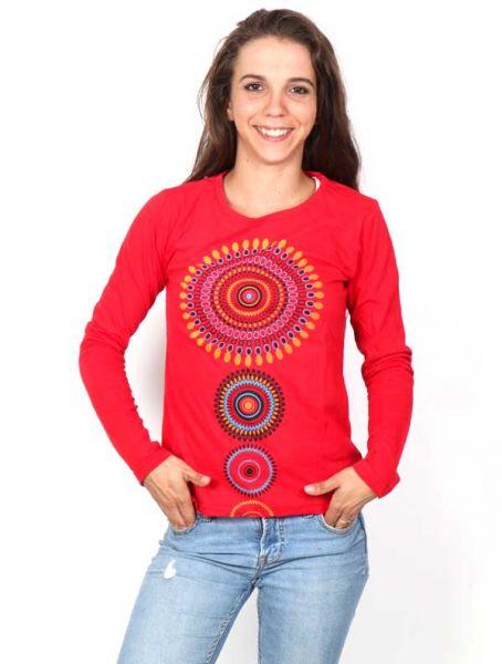Camisetas de Manga Larga - Camiseta con Mandalas estampados [CAEV24] para comprar al por mayor o detalle  en la categoría de Ropa Hippie Alternativa para Mujer.