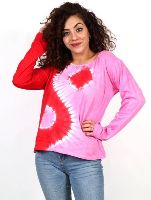 Camisetas de Manga Larga - Camiseta Ying Yang Tie Dye CAEV30 para comprar al por Mayor o Detalle en la categoría de Ropa Hippie para Mujer