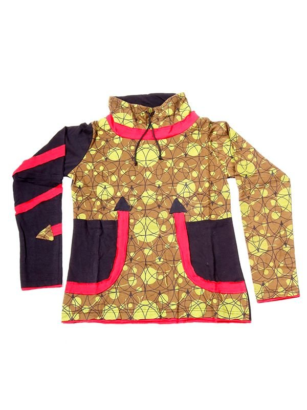 - Camiseta Hippie estampada cuello alto [CAHC11] para comprar al por mayor o detalle  en la categoría de Ropa Hippie Alternativa para Chicas.