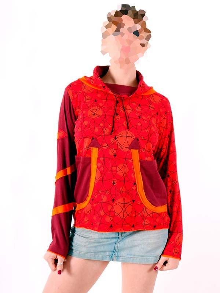 Camisetas de Manga Larga - Camiseta Hippie estampada cuello alto [CAHC11] para comprar al por mayor o detalle  en la categoría de Ropa Hippie Alternativa para Chicas.