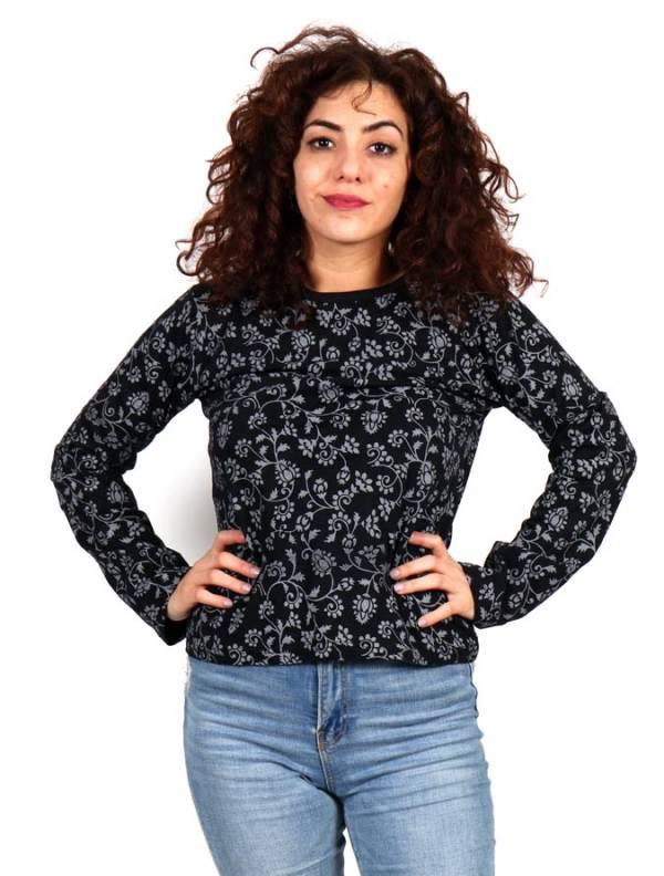 Camisetas de Manga Larga - Camiseta Hippie estampada CAHC16 para comprar al por Mayor o Detalle en la categoría de Ropa Hippie para Mujer
