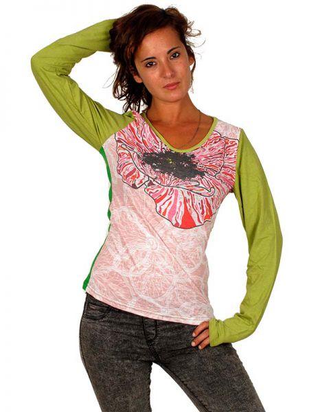 Explosión desde dentro. camiseta de manga larga con estampado en CAUN09 para comprar al por mayor o detalle  en la categoría de Outlet Hippie Étnico Alternativo.
