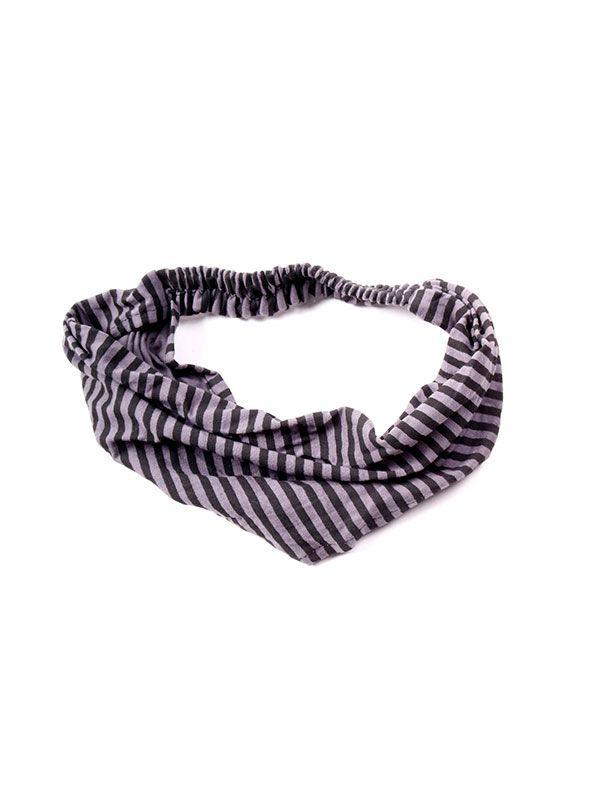 Cintas para el pelo - Cinta del pelo de rayas [CEHC02] para comprar al por mayor o detalle  en la categoría de Complementos Hippies Alternativos.