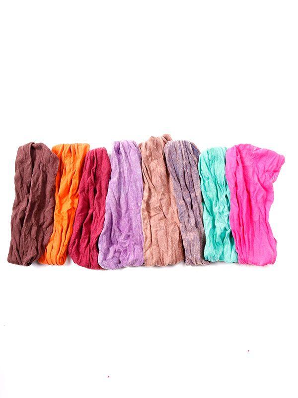 Cinta para el pelo lavadas a la piedra [CEHC05]. Artículos para el pelo para comprar al por mayor o detalle  en la categoría de Complementos Hippies Alternativos.