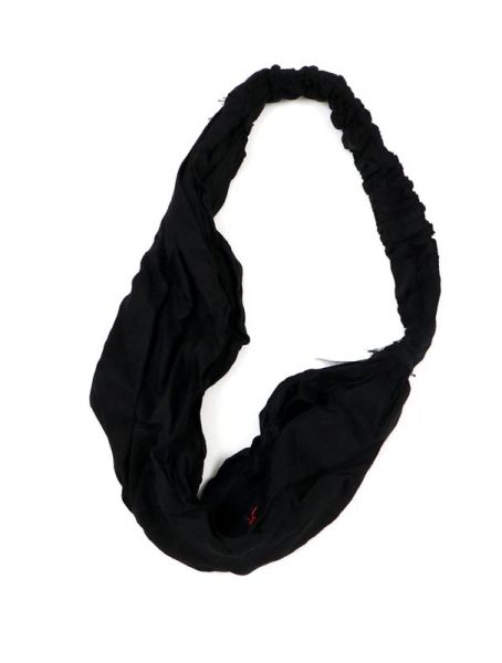 Cinta-Banda lisa ancha con elástico - Negro Comprar al mayor o detalle