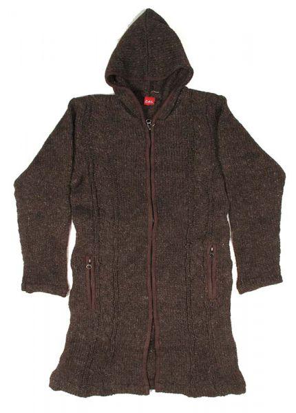 Abrigo de lana ochos Alternativo. Abrigo tres cuartos de punto de CHAM06 para comprar al por mayor o detalle  en la categoría de Outlet Hippie Étnico Alternativo.
