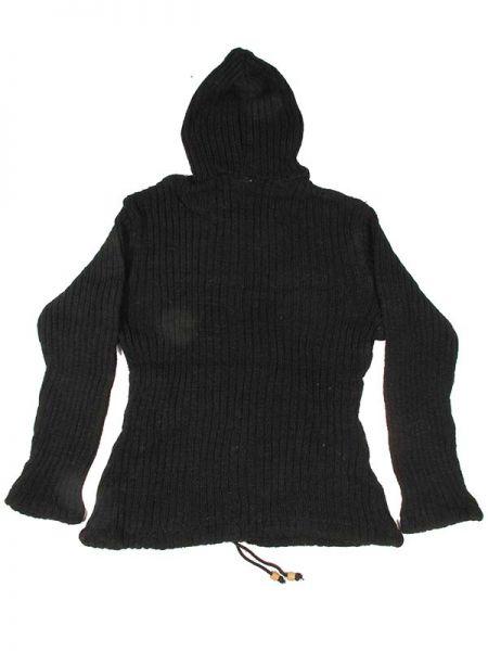 Sudadera de lana Alternativa. Chaqueta tipo sudadera de punto de lana, hippie, alternativa y artesanal. Con capucha, bolsillos laterales, cremallera hasta la mitad de la capucha, bolsillo tipo canguro y cordón ajustable para la cadera. SIN forro - Detalle Comprar al mayor o detalle