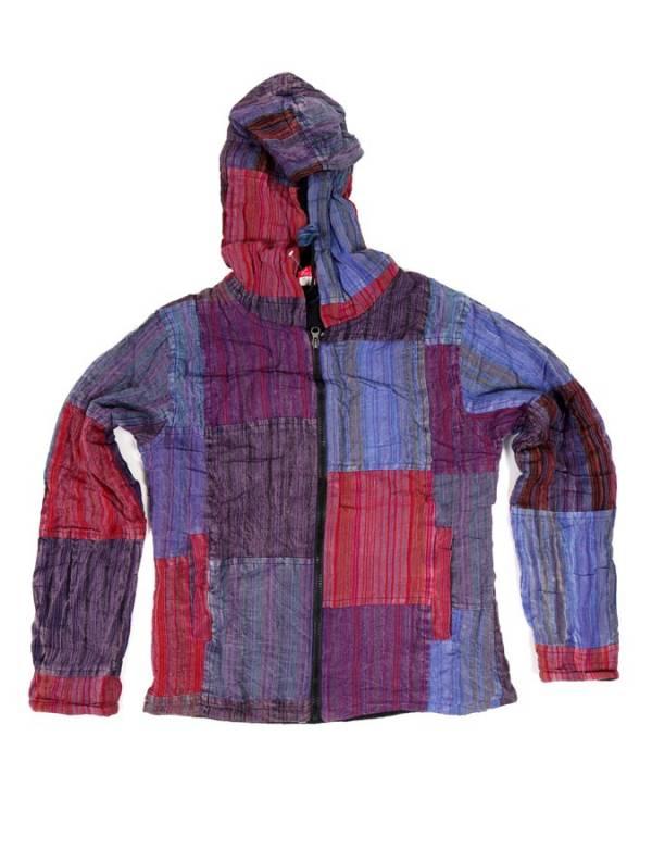 Chaqueta patchwork de rayas lavada a la piedra - M204 Comprar al mayor o detalle