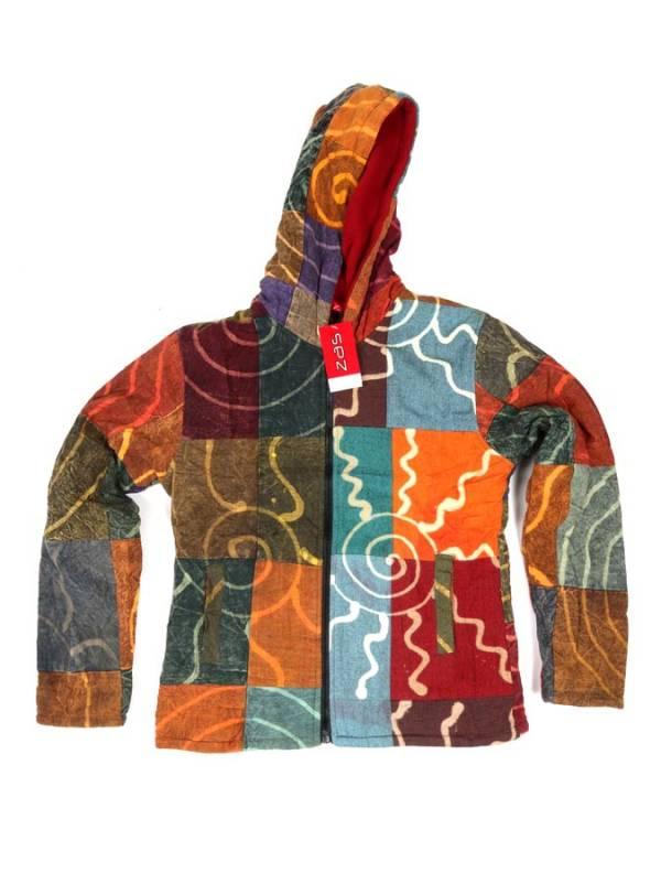 Chaqueta patchwork y batik a la piedra - M202 Comprar al mayor o detalle