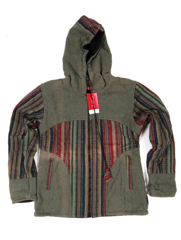 Chaqueta étnica con capucha - Verde Comprar al mayor o detalle