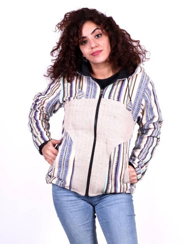 Jaquetas e Casacos - CHEV37 Jaqueta étnica com capuz para compra no atacado ou Detalhe na categoria Roupa Hippie Feminina