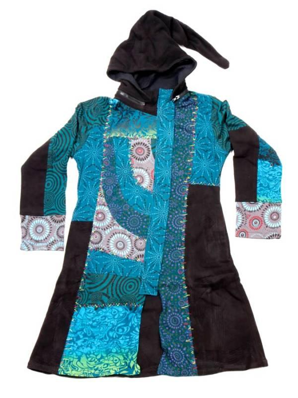 Chaquetas y Abrigos - Chaquetón patchwork capucha desmontable CHEV45 para comprar al por Mayor o Detalle en la categoría de Ropa Hippie para Mujer