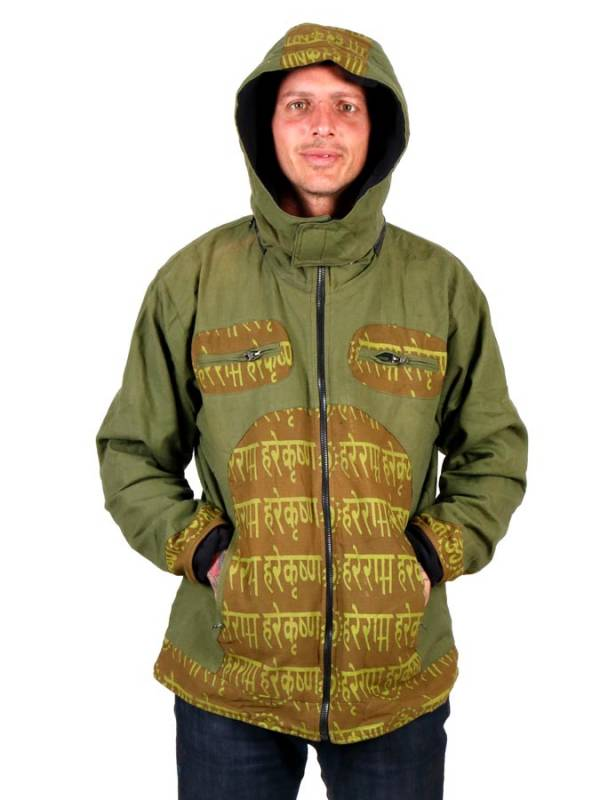 Hoodies and Coats - CHEV75 Sanskrit print Hippie Jacket to buy wholesale or Detail in the category of Hippie Clothing for Men