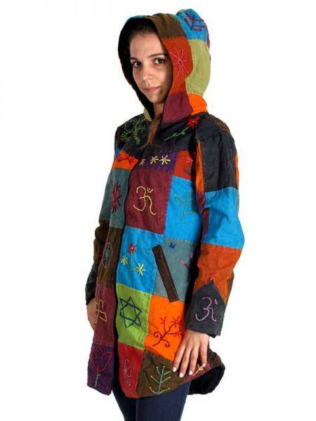 Abrigo hippie patchwork redondeado. - Detalle Comprar al mayor o detalle