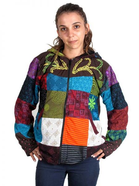 Sudaderas chicas - Chaqueta hippie patchwork. [CHHC28] para comprar al por mayor o detalle  en la categoría de Ropa Hippie Alternativa para Mujer.